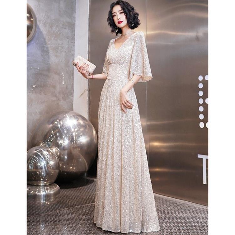 限時搶購-高端晚禮服女2020新款宴會氣質名媛平時可穿高貴大氣優雅氣場女王