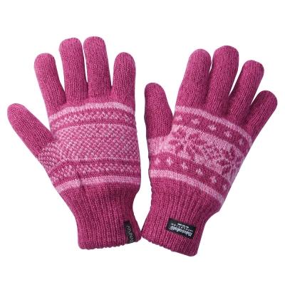 【ATUNAS 歐都納】聖誕版 3M保暖手套 A-A1236 桃紅色系