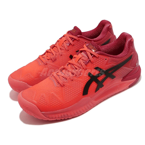 Asics 網球鞋 Gel-Resolution 8 Tokyo 橘 紅 男鞋 旭日紅 限定【ACS】 1041A185701