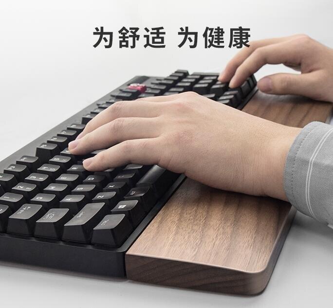 限時搶購!限時八折!機械鍵盤木手托護腕手腕墊托手滑鼠腕托87實木掌托ikbc木托木質托