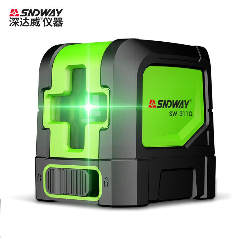 SNDWAY深達威激光水平儀 綠光紅外線標線儀 自動水平垂直打線投線