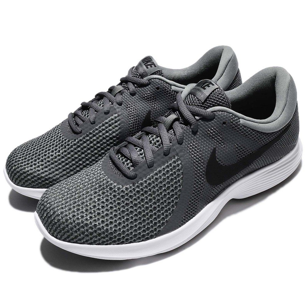 NIKE 慢跑鞋 Revolution 4 運動 男鞋 低筒 跑鞋 跑步 健身房 男 灰 黑 白 [908988-010]