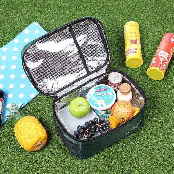 保溫袋 戶外野餐包大容量便攜保溫包加厚保冷便當飯盒套扁平橫版手提袋大【快速出貨八折下殺】