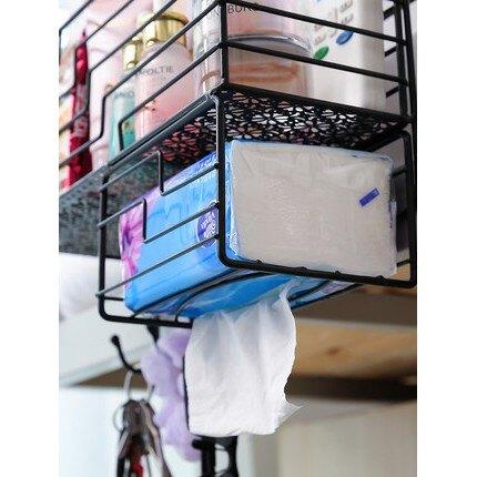 置物架下掛籃 廚櫃隔板掛籃 鐵藝浴室置物架 廚房 隔板下掛籃 衣櫥 置物架 收納架 掛架 掛籃 金屬置物架 整理架