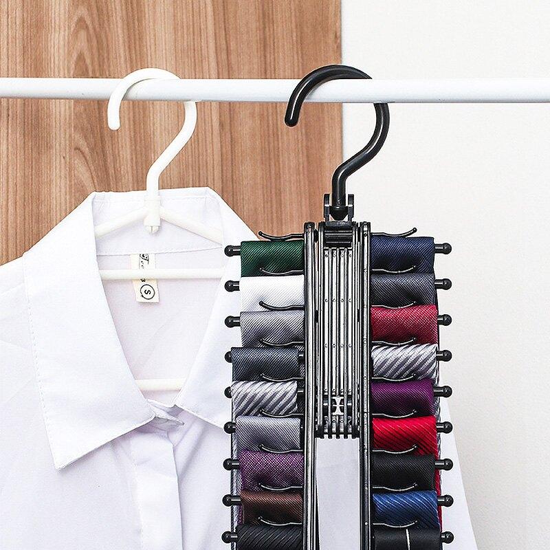 領帶架 領帶收納架掛架大容量20排位腰帶皮帶收納架衣櫃絲巾掛架腰帶架【xy5660】
