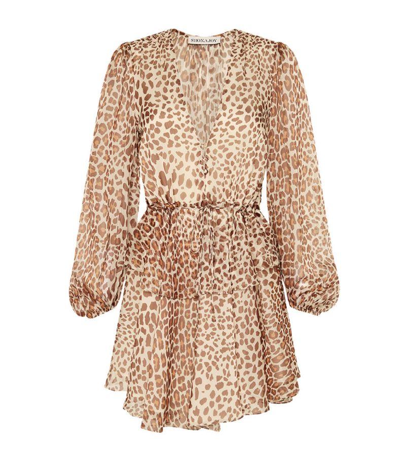 Shona Joy Ghetty Leopard Print Mini Dress