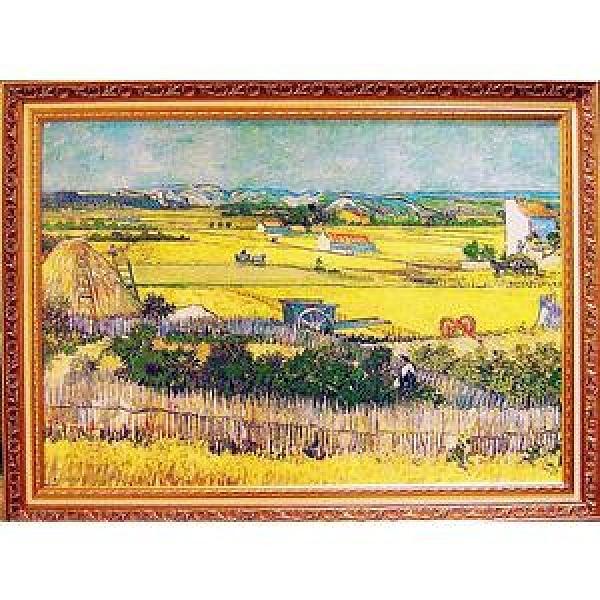 《麥田收割 豐收》梵谷名畫 The Harvest大幅92x72cm寬x高/92x72cm