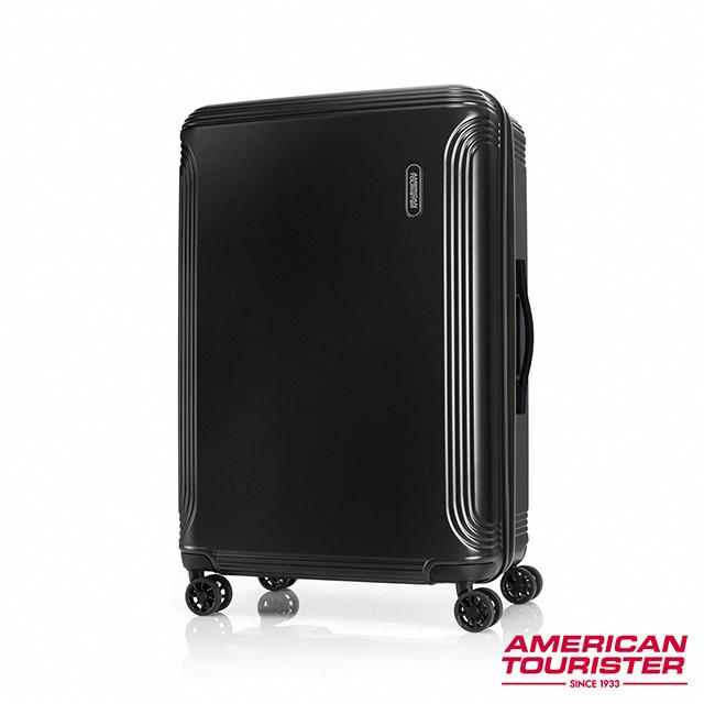 AT美國旅行者 29吋Hypebeat 防盜拉鍊可擴充避震PC飛機輪硬殼托運行李箱(黑)