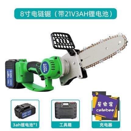 電鏈鋸 電鋸鋰電伐木鋸手持電鏈鋸家用小型充電鋸子電動園林切割鋸T
