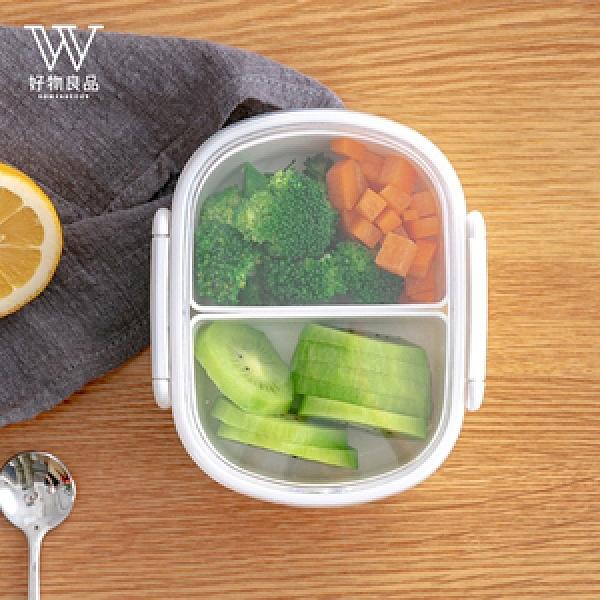 【好物良品】隨身便攜式外出分隔防串味保鮮便當水果盒-350ml350ml
