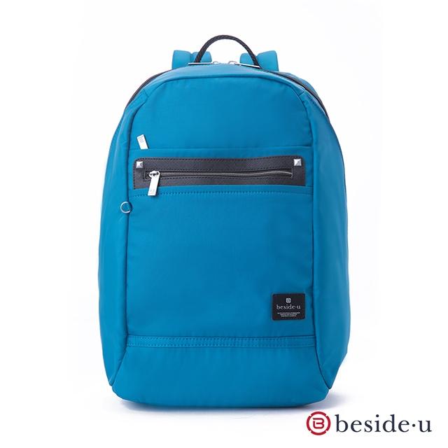 beside u 官方直營 BNUM 商務型大空間防潑水13吋筆電行李箱拉桿後背包 – 藍色