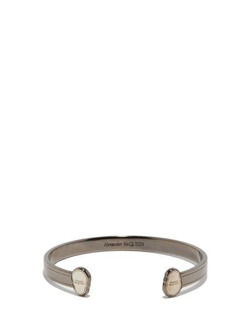 Alexander Mcqueen - Twin Skull Bracelet - Mens - Silver