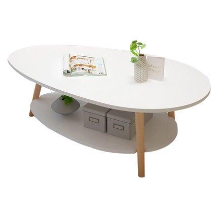 茶几 北歐雙層簡約現代小戶型客廳邊桌子創意沙發邊几臥室迷你小圓邊桌WY 快速出貨