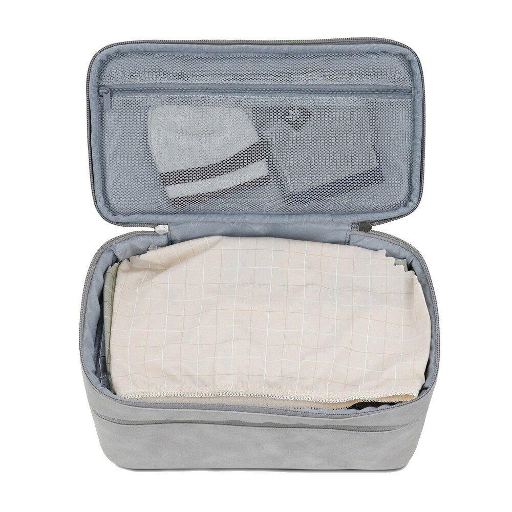 3C 雙層內衣收納 雙層式設計 簡單分類 外型簡約大方 材質舒適 手提設計 隨時補妝上陣 空間不浪費 收納搞定