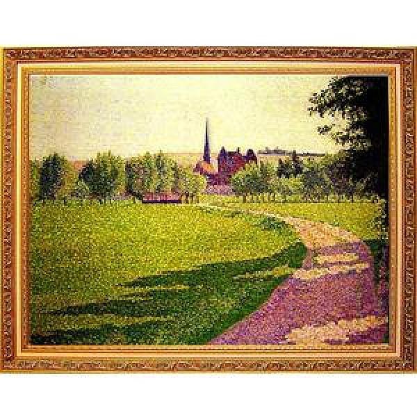 Lucien Pissarro路西安畢沙羅~【厄哈格尼教堂】大幅寬x高/92x72cm