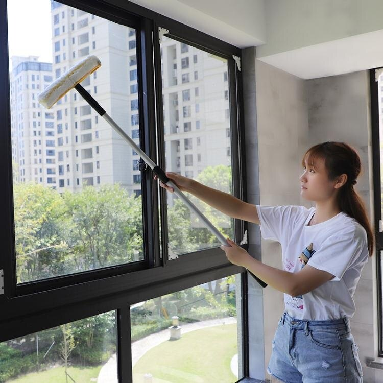 擦窗器 擦玻璃器家用玻璃刮水器加厚大號可伸縮洗窗戶刮刀搽紗窗清潔工具T【全館免運 75折鉅惠】