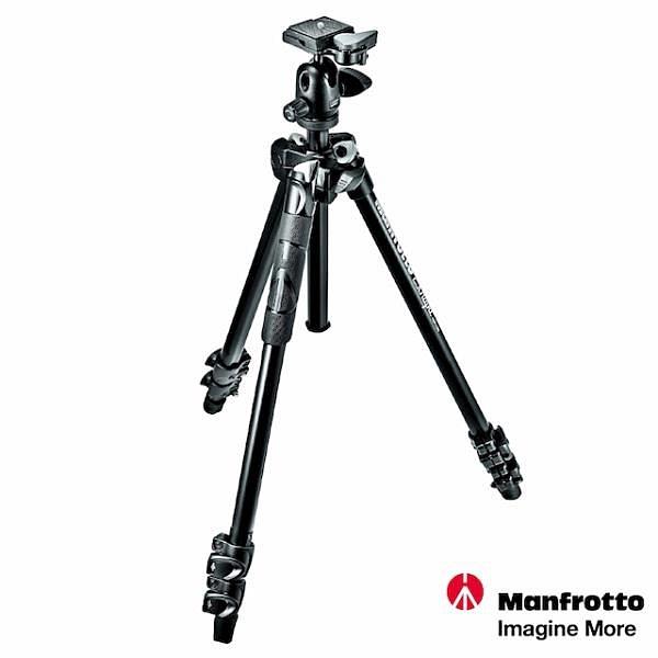 【南紡購物中心】Manfrotto 290 LIGHT 輕巧三節腳架 球型雲台套組 MK290LTA3-BH