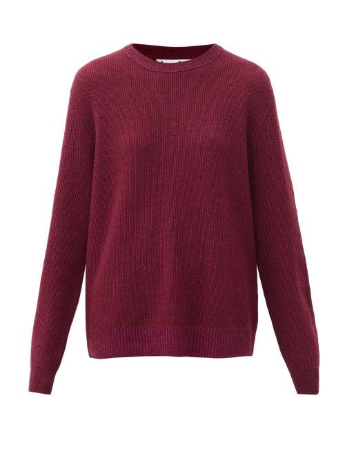 Acne Studios - Kassia Crew-neck Cashmere Sweater - Womens - Burgundy
