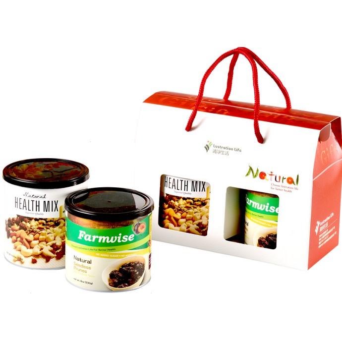 清淨生活 健康零嘴禮盒 (天然綜合堅果310g+超大去籽蜜棗乾230g)