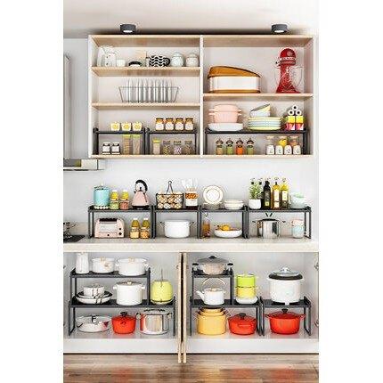 廚房收納架 層架 置物架 伸縮板 伸縮架 居家收納 收納 烤箱架 微波爐架 層架 落地置物架 餐廚用品收納架