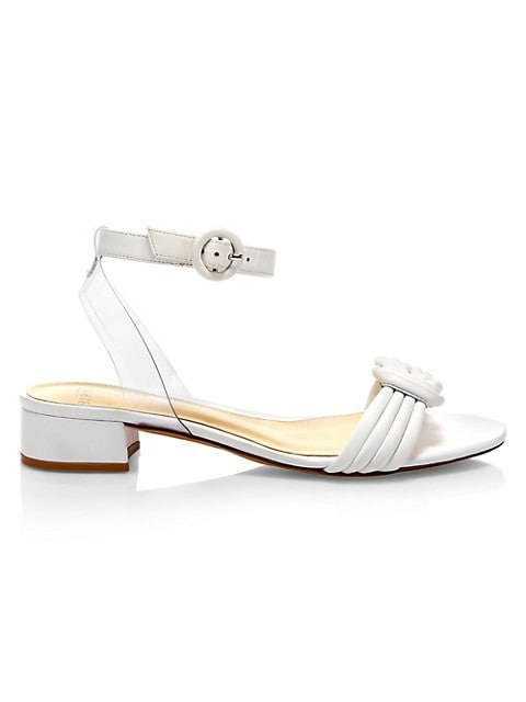 Vicky Knotted Vinyl & Leather Sandals
