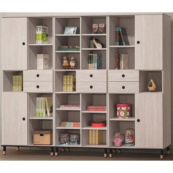書櫃 書櫥 AT-748-123 鋼刷白8尺書櫃【大眾家居舘】
