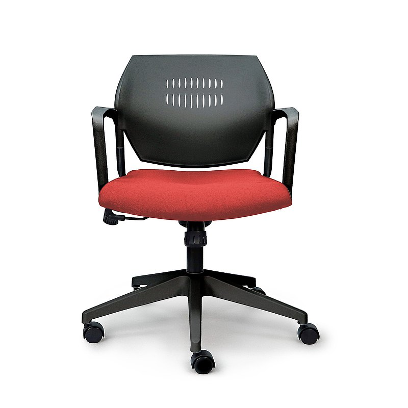 IMPRESSA | 小資扶手辦公椅 - 黑 x 紅座