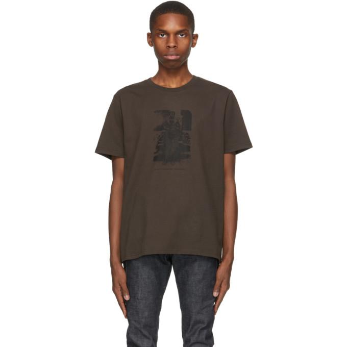 Eastwood Danso 棕色图案徽标 T 恤