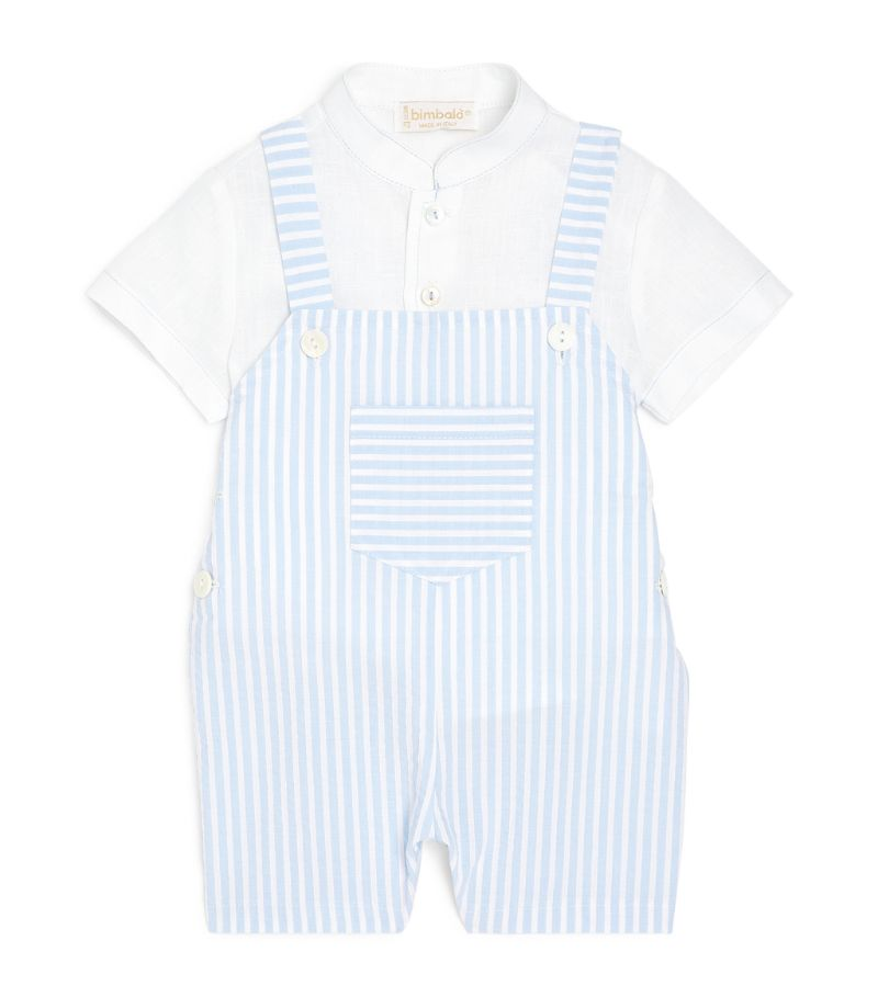 Bimbalo Striped Dungarees And Shirt Set (1-24 Months)