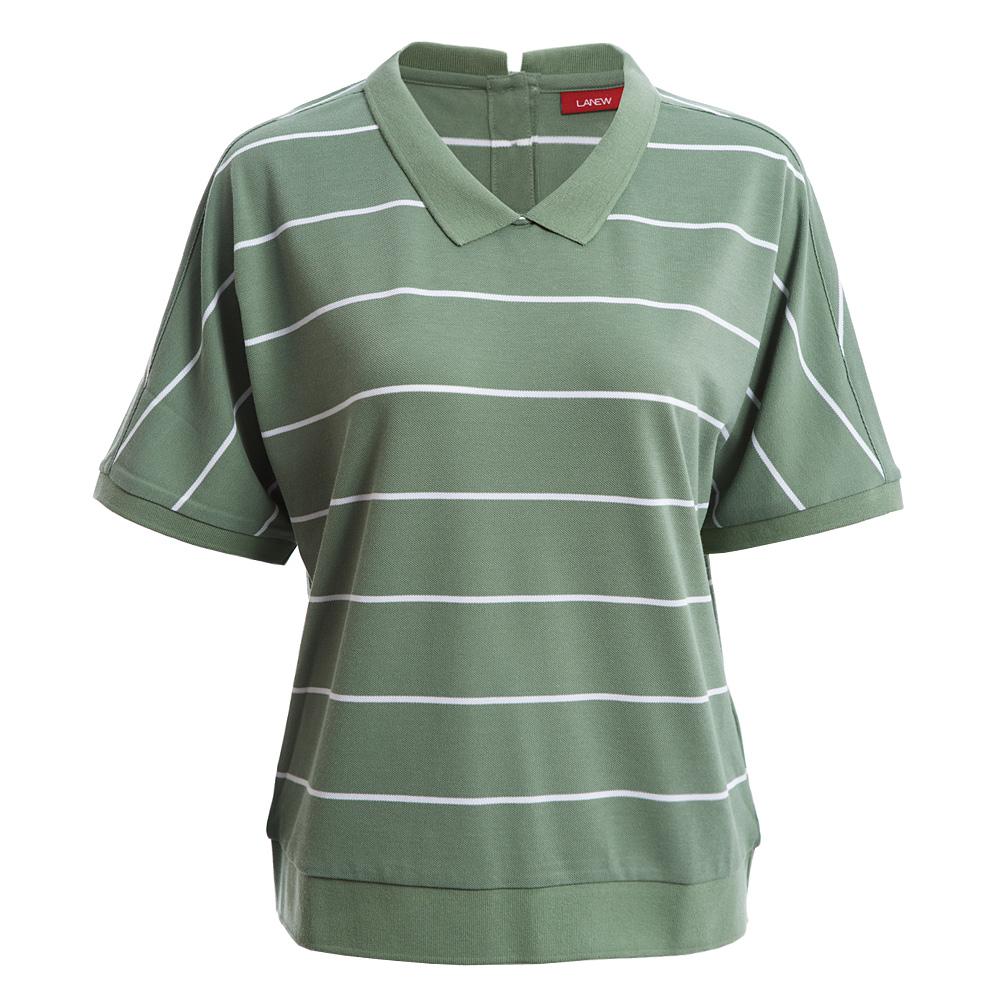 優纖淨寬版條紋POLO衫(女260124960)
