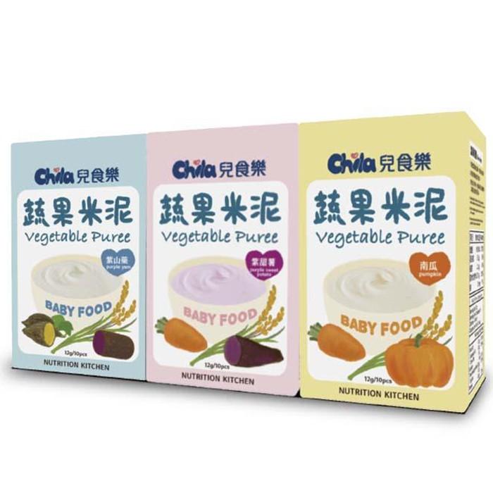 兒食樂-蔬果米泥(紫甜薯/南瓜/紫山藥)4入組