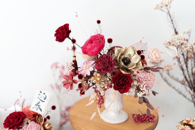 SSL歐式過年盆花 新年花禮 桌花 新年盆花 新年佈置 過年裝飾