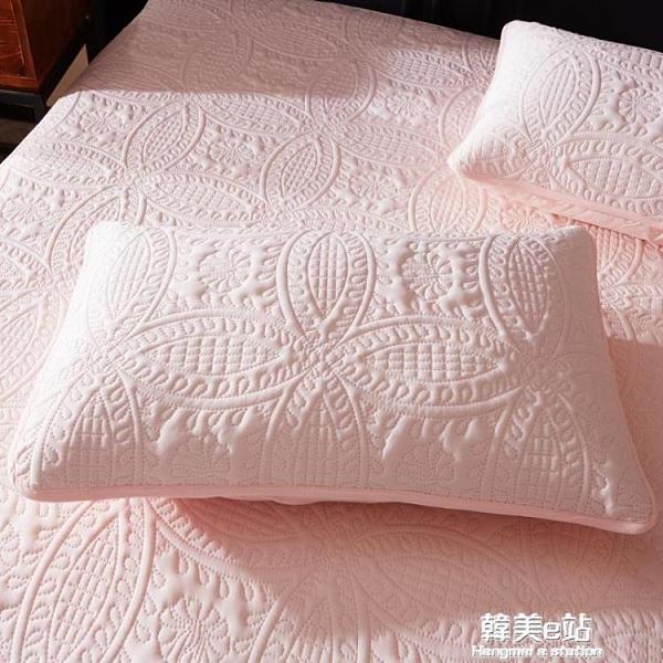 枕頭套 防水枕套防口水頭油枕頭防螨蟲枕芯保護套信封內膽套48x74cm一對 韓美e站
