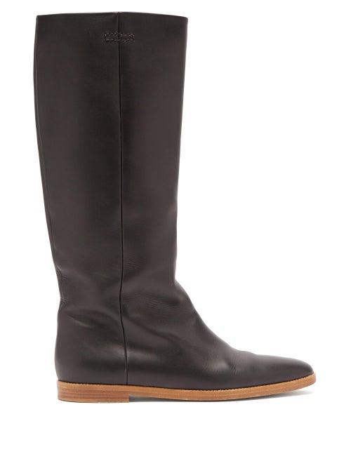 Gabriela Hearst - Skye Leather Knee-high Boots - Womens - Black