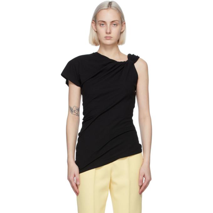 Alexander McQueen 黑色结饰 T 恤