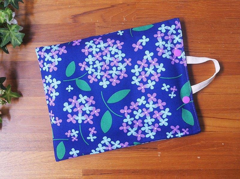 限量訂製=環保紅豆暖暖包/紅豆熱敷墊=雅緻日本布料=紫陽花=藍(共2色)
