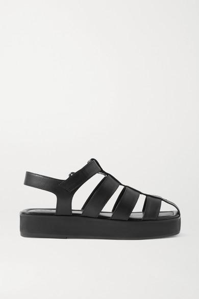 Porte & Paire - 皮革凉鞋 - 黑色 - IT35.5