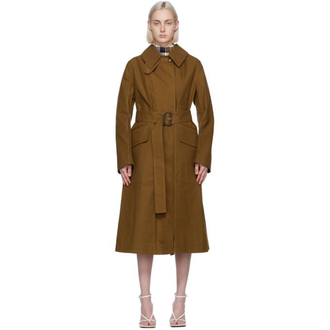 Victoria Beckham 棕色大廓形风衣