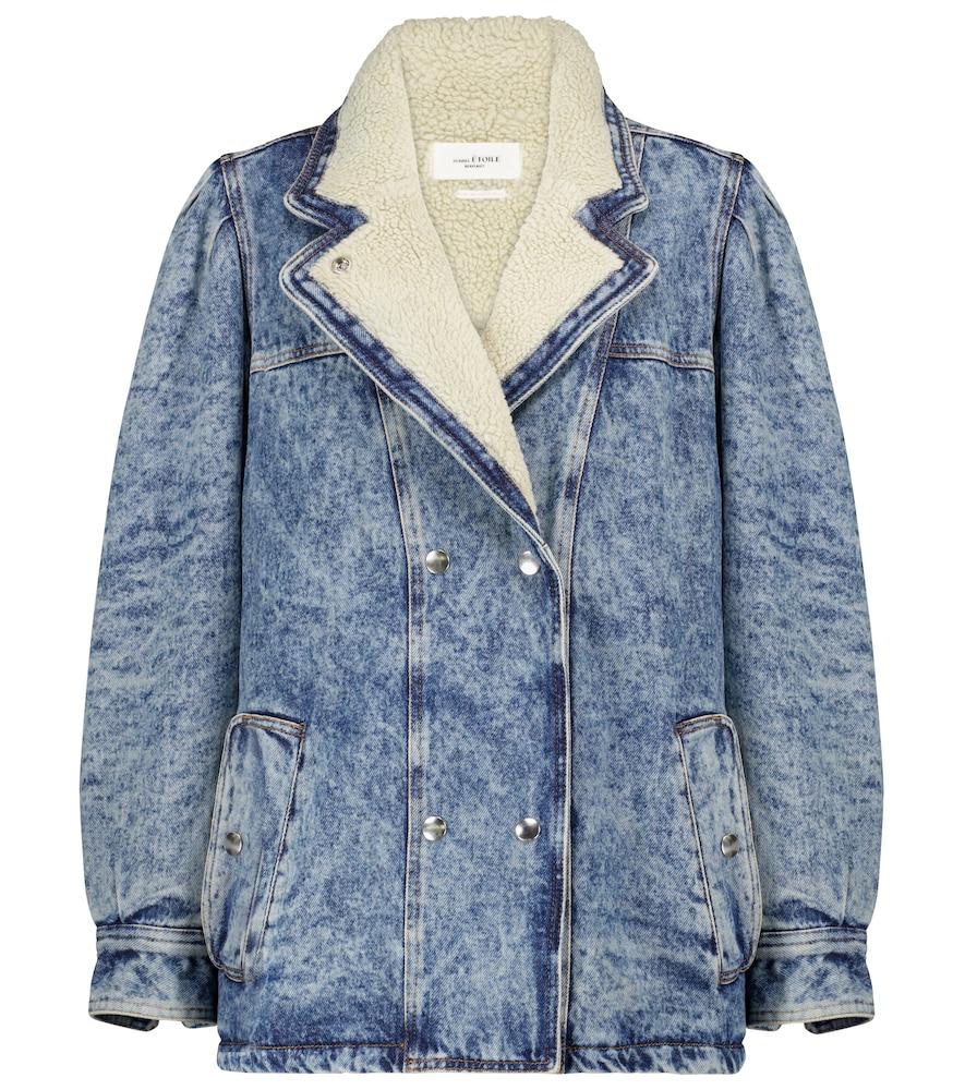 Lucinda faux shearling denim jacket