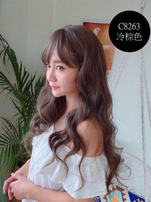 全頂假髮 玫瑰鮮奶茶髮色 歐美捲髮 C8263 髮片達人