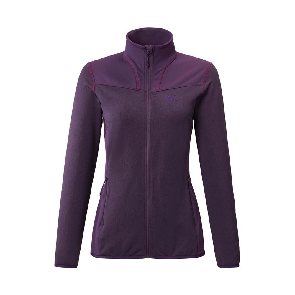 MILLET 女 SENECA TECNO 保暖刷毛外套 黑莓紫