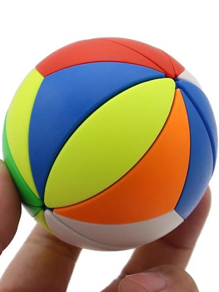 魔方 永駿楓葉球魔方 彩色魔球魔方 圓球形 斜轉足球實色益智力兒童玩具【快速出貨八折下殺】
