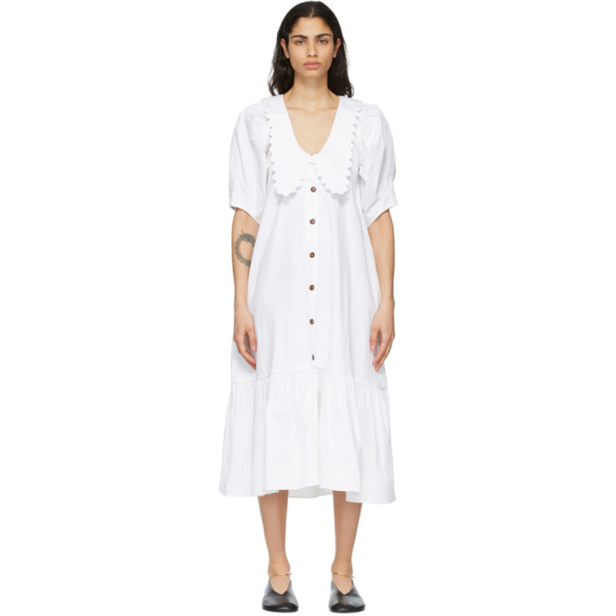 Kika Vargas 白色 Consuelo 连衣裙