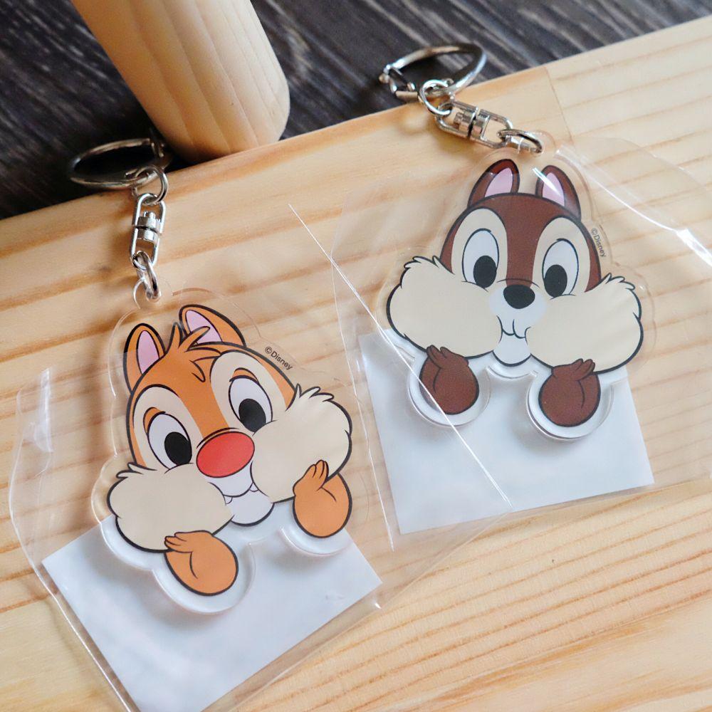 《迪士尼Disney》日本商品 奇奇蒂蒂壓克力吊飾 鑰匙圈 Chip 'n' Dale 日本製