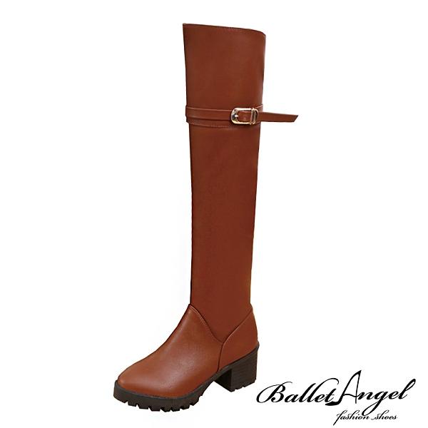 長靴 率性繫帶釦環及膝長靴(棕)*BalletAngel【18-A-06br】【現+預】