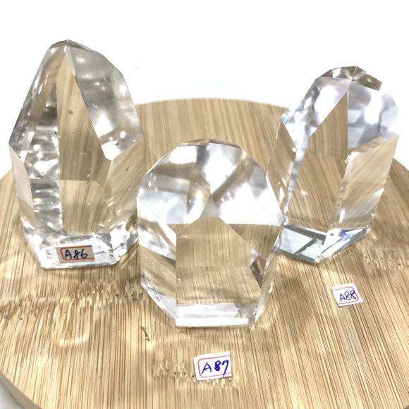 『晶鑽水晶』巴西天然白水晶柱 約60x38mm 超白亮透 避邪擋煞 帶來正能量 鎮宅 擺件 書桌 辦公桌 臥室 送禮自用