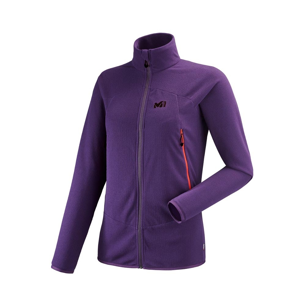 MILLET 女 K LIGHTGRID 輕量保暖刷毛外套 黑莓紫