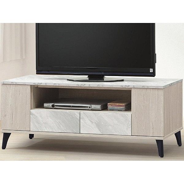 電視櫃 AT-713-4 白橡色4尺長櫃【大眾家居舘】