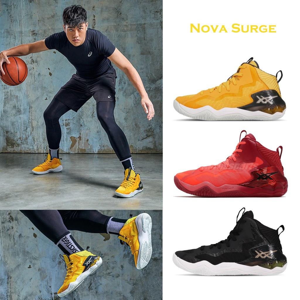Asics Sport 籃球鞋 Nova Surge 男鞋 亞瑟士 高筒 亞瑟膠 穩定 包覆 高階款 任選【ACS】