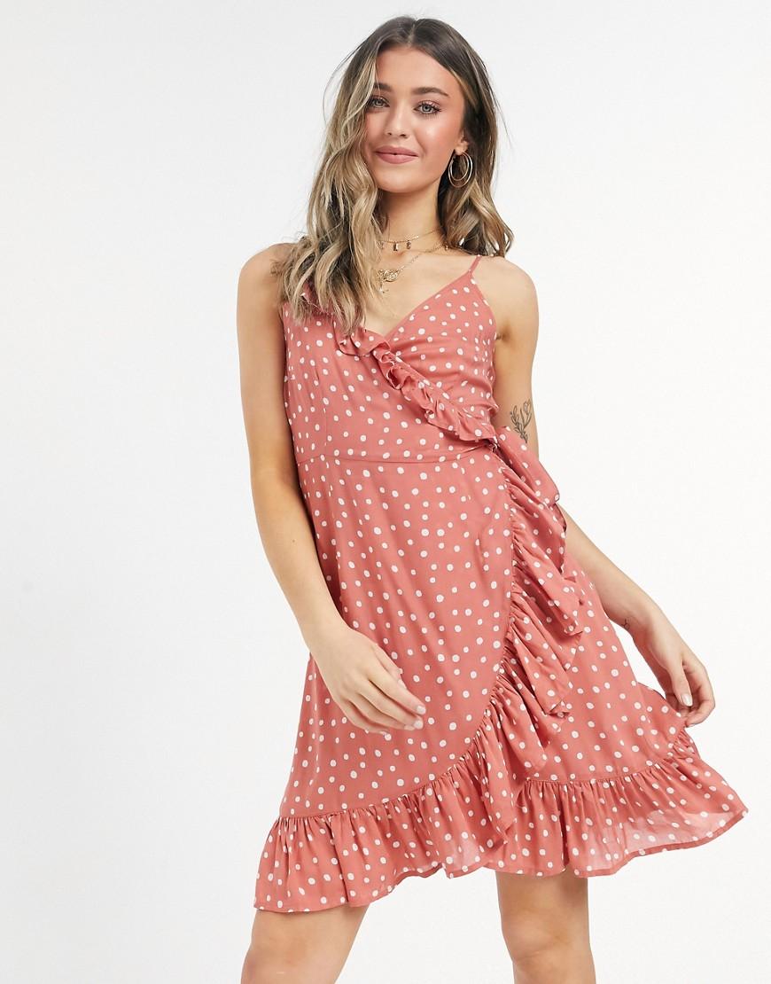 Figleaves sorrento spot beach dress in rust-Brown